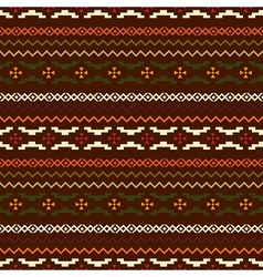 Dark ethnic pattern vector image