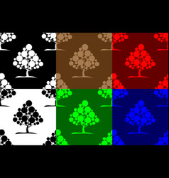deciduous tree seamless pattern vector image