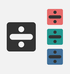 Divide sign icon vector