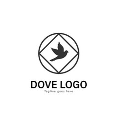 Dove logo template design dove logo with modern vector