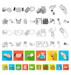 e-commerce and business flat icons in set vector image