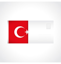 Envelope with Turkish flag card vector image