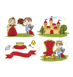 Fairy clip arts little king vector