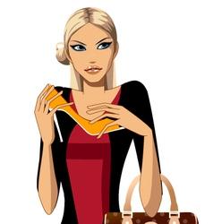 fashion shoe shopping vector image