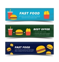 Fast food banner flat vector image
