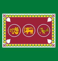 Flag of western province of sri lanka vector