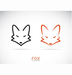 fox head design on a white background wild vector image
