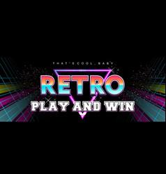 Futuristic retro digital banner 80s style vector