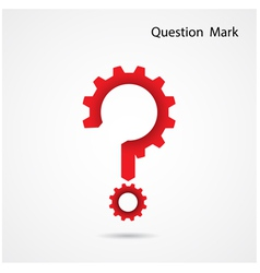 Gear question mark on background vector image