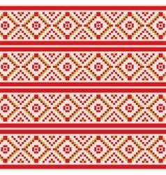 Geometric Winter seamless pattern vector image