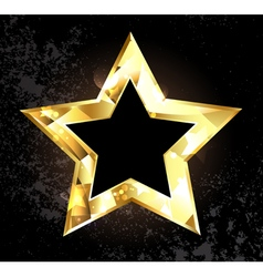 gold polygonal star vector image