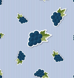 Grape pattern Seamless texture with ripe grape vector image