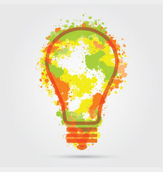 Great new idea concept - bulb with hand draw vector