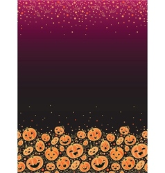 Halloween pumpkins vertical decor background vector image