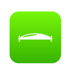 Hand saw icon green vector