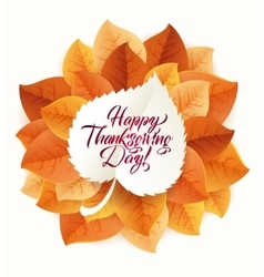 Happy Thanksgiving Day circular ornament made of vector
