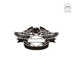 Harley davidson emblem or logo symbol isolated vector