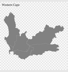 High quality map is a province south africa vector