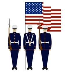 Honor guard in united states vector