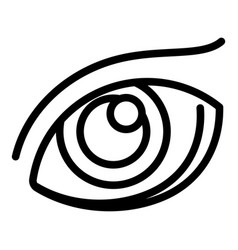 human eye icon outline style vector image