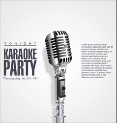karaoke party retro background vector image