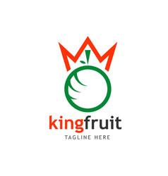 King fruit logo template design vector