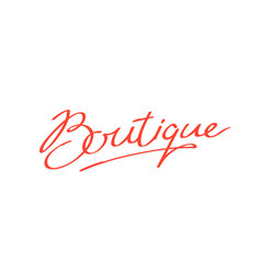 logo word boutique brand company vector image