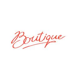 Logo word boutique brand company vector