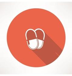 Medicine pills icon vector image