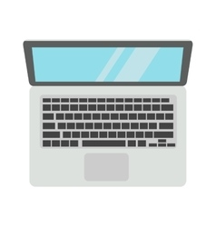 Modern laptop computer isolated on white vector image