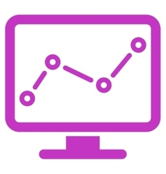 Monitoring icon from Business Bicolor Set vector image
