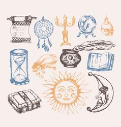 Mystical arts - vintage vector