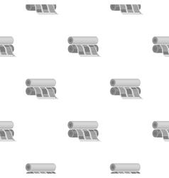 Newspaper printing machine in cartoon style vector