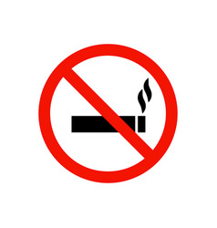 No smoking prohibiting sign vector