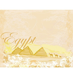 old paper with pyramids giza vector image