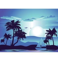 Palm Tree at Night5 vector image