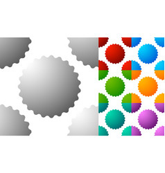 Pattern background set with badge starburst-like vector