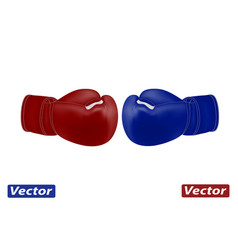 photo-realistic boxing gloves in a vector image
