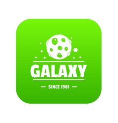 planet icon green vector image