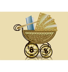 pram and book vector image