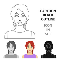 readhead woman icon in cartoon style isolated on vector image