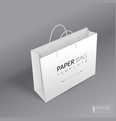 Realistic paper bag template vector image