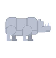 rhinoceros isolated africa wild beast beast with vector image