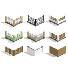 set fence sections vector image