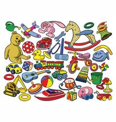 set vintage toys vector image