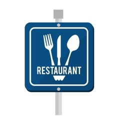 Sign road restaurant icon vector