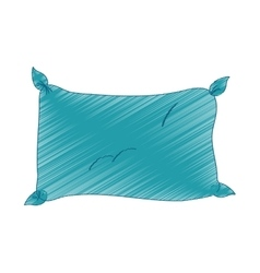 Single pillow icon image vector