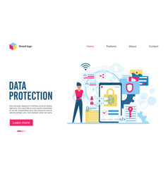 software for protection important information flat vector image