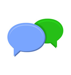 speech chat bubbles on white background vector image