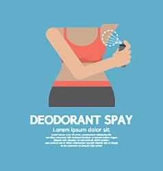 Sporty Woman Using Deodorant Spray vector